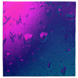 Purple and Blue Abstract Design Napkin