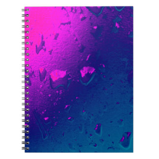 Purple and Blue Abstract Design Notebooks