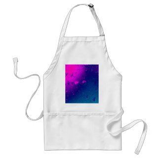 Purple and Blue Abstract Design Standard Apron