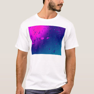 Purple and Blue Abstract Design T-Shirt