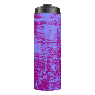 Purple and Blue Artistic Hot or Cold Drink Carrier Thermal Tumbler