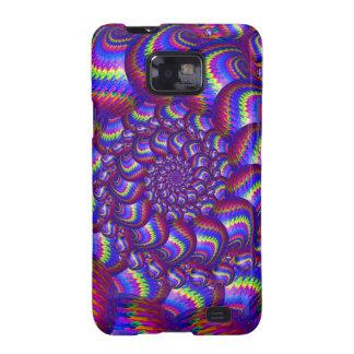Purple and Blue Balls Fractal Pattern Samsung Galaxy S Case