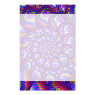 Purple and Blue Balls Fractal Pattern Stationery