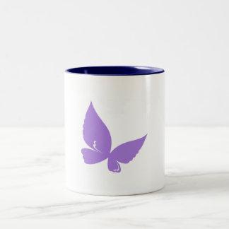 purple and blue butterfly mug