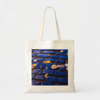 Purple and Blue Cobblestone Street Budget Tote Bag