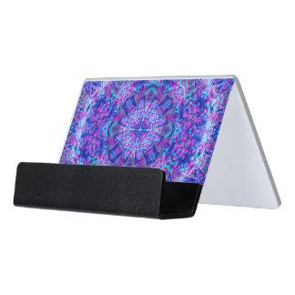 Purple And Blue Desk   Business Card Holder