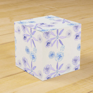Purple and blue floral gift/favour box