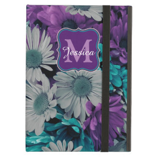 Purple and Blue Flower Smash Cover For iPad Air