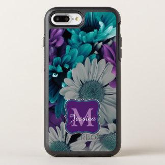 Purple and Blue Flower Smash OtterBox Symmetry iPhone 8 Plus/7 Plus Case