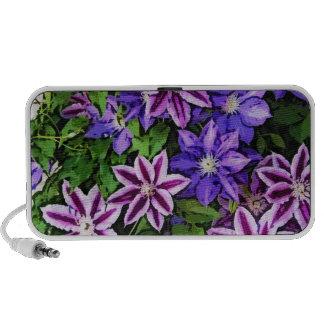 PURPLE AND BLUE FLOWERS iPhone SPEAKER