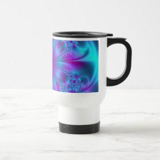 Purple and Blue Fractal Design Travel Mug