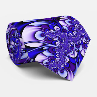 Purple and Blue Fractal Tie