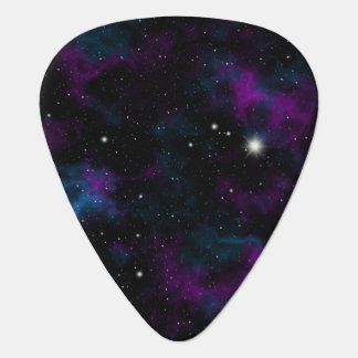Purple and Blue Galaxy Guitar Pick