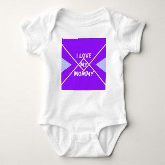 Purple and Blue geometric pattern Baby Bodysuit