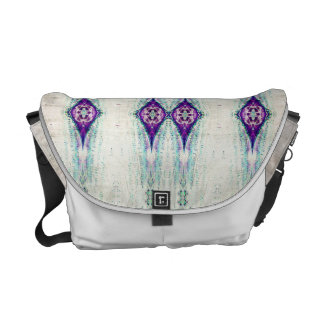 Purple and Blue geometric pattern bag Courier Bag