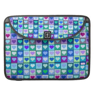 "Purple and Blue Heart Squares Macbook Pro 15"" case"