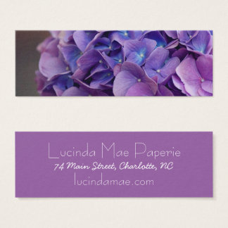Purple and Blue Hydrangea Close Up Mini Business Card