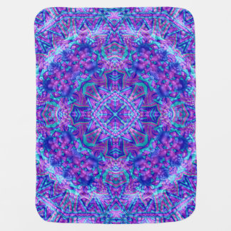 Purple And Blue Kaleidoscope Baby Blanket