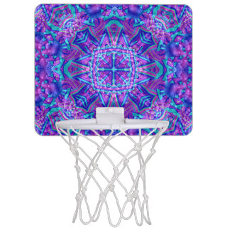 Purple And Blue  Kaleidoscope  Basketball Hoops