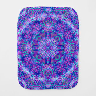 Purple And Blue Kaleidoscope Burp Cloth