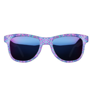 Purple And Blue Kaleidoscope Custom Sunglasses