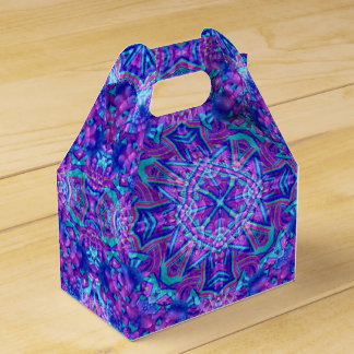 Purple And Blue Kaleidoscope Gable Favor Box