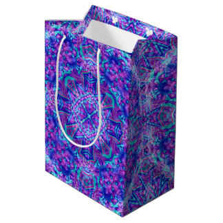 Purple And Blue  Kaleidoscope Medium Gift Bag