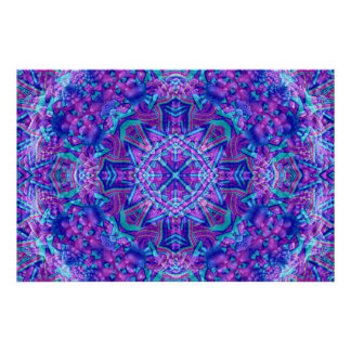 Purple And Blue Kaleidoscope Poster