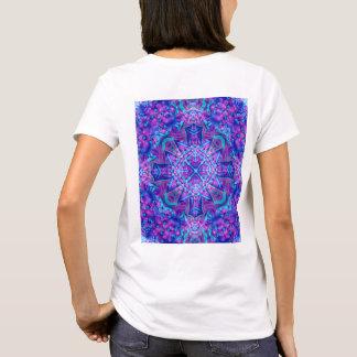Purple And Blue Kaleidoscope    Shirts, back print T-Shirt