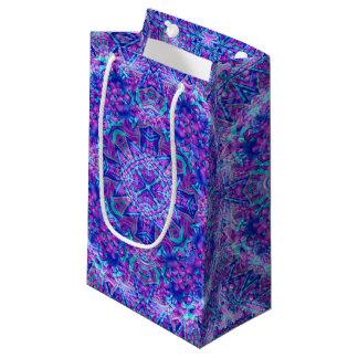Purple And Blue Kaleidoscope Small Gift Bag