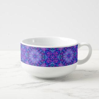 Purple And Blue Kaleidoscope     Soup Mugs