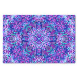 Purple And Blue Kaleidoscope  Tissue Paper
