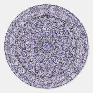 Purple and Blue Mandala Classic Round Sticker