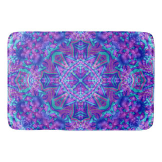 Purple And Blue Pattern Bath Mats, 3 sizes Bath Mat