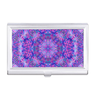 Purple And Blue Pattern   Business Card Case
