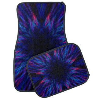 Purple and blue pattern car mat