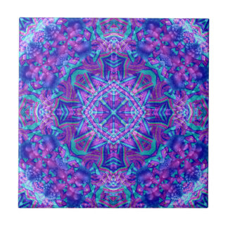 Purple And Blue Pattern  Ceramic Tiles, 2 sizes Tile