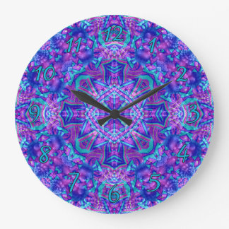 Purple And Blue Pattern    Clock, square or round Wallclock