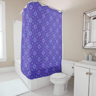 Purple And Blue Pattern Custom Shower Curtain