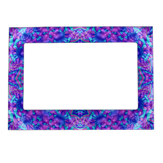 Purple And Blue Pattern  Magnetic Picture Frames