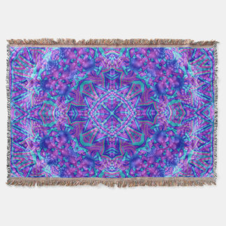 Purple And Blue Pattern  Throw Blanket