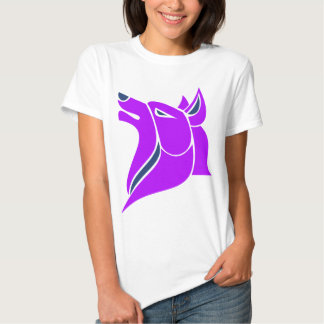 Purple and Blue Solid Wolf Head Tshirts