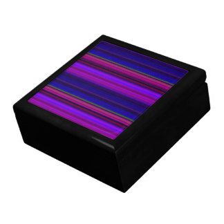 Purple and Blue Stripes Gift Box
