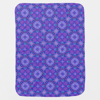 Purple And Blue  Tiled Design Baby Blankets