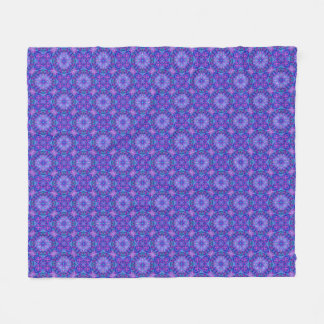 Purple And Blue Two Fleece Blankets, 3 sizes