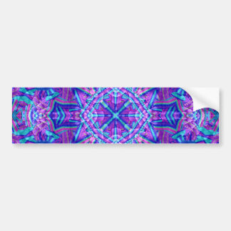 Purple And Blue Vintage Bumper Sticker