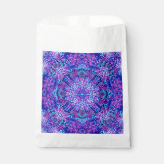Purple And Blue Vintage Kaleidoscope  Favor Bags