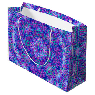 Purple And Blue Vintage Kaleidoscope Gift Bag