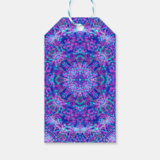 Purple And Blue Vintage Kaleidoscope  Gift Tags