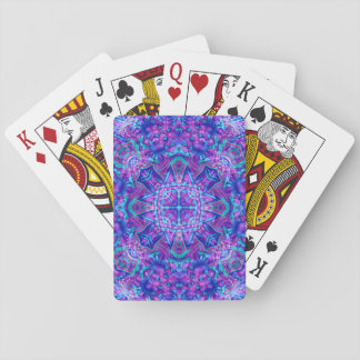 Purple And Blue Vintage Kaleidoscope Playing Cards